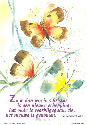 Poster a4 2 cor 5:17 zo is dan wie in Ch