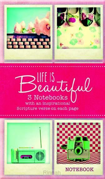 Life is Beautifull - Set of 3 notebooks