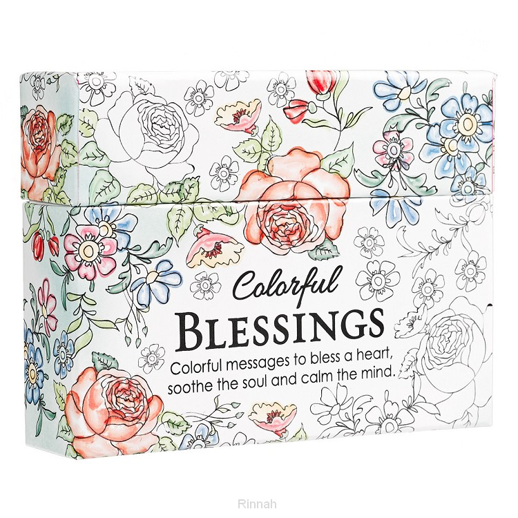 Colorful blessings Boxed Coloring Card
