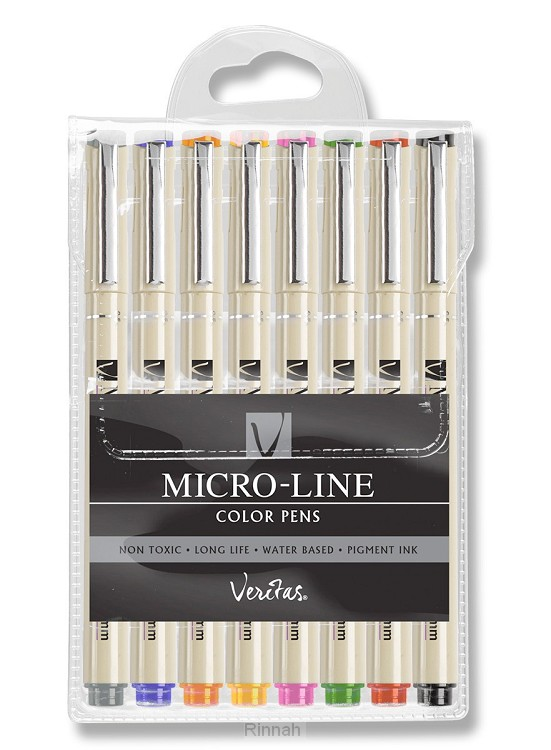 Micro-Line Color Pens Veritas  Set van 8