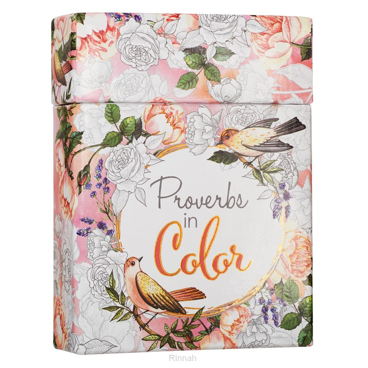 Proverbs in Color - Boxed Coloring Cards