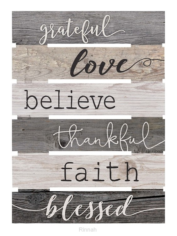 Grateful Love Believe Thankful Faith
