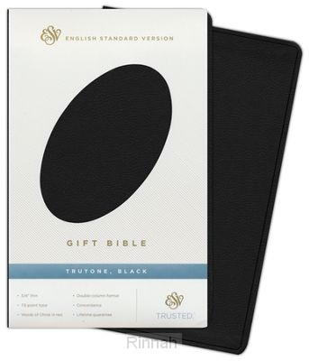 Gift bible ESV black bonded leather